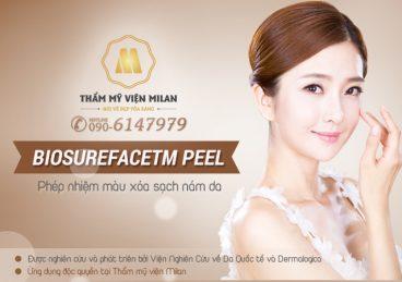BioSurefaceTM Peel – Phép nhiệm màu điều trị nám da hiệu quả