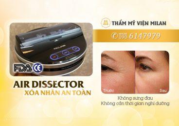 Là phẳng nếp nhăn, rãnh nhăn toàn mặt với Air Dissector